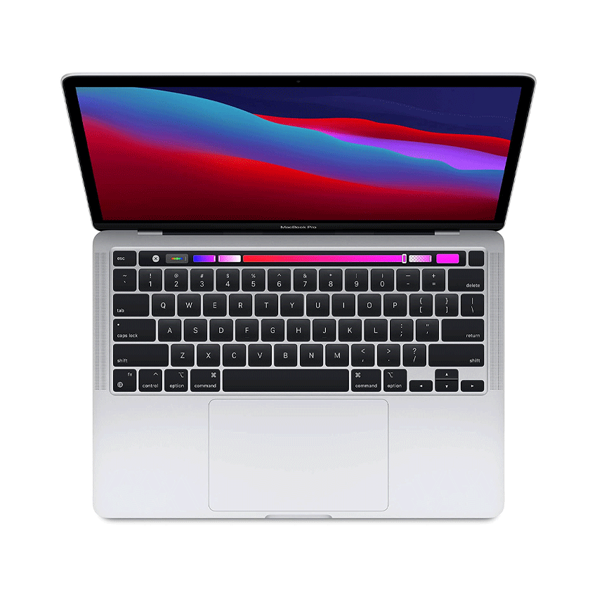 [Trả góp 0%][THU NHẬP VOUCHER GIẢM NGAY 8% TỐI ĐA 800K] Máy tính xách tay Apple MacBook Pro Apple M1 chip with 8‑core CPU RAM 8GB 256GB SSD 13.3-inch Retina Touch Bar Touch ID Two Thunderbolt USB 4 ports Silver macOS MYDA2SA/A