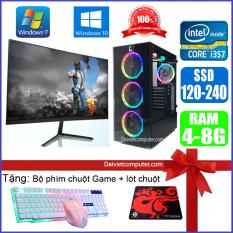 Bộ máy tính PC Game LED CPU Dual Core E7/8xxx / i7-2600 / Ram 4GB-8GB / HDD 250GB – SSD 120GB / VGA 1GB – 2GB chơi PUBG mobile, PUBG lite, LOL, CF đột kích, Fifa, Cs Go, AOE … + Màn hình + [QÙA TẶNG: Bộ phím chuột game, tai nghe] – LDV