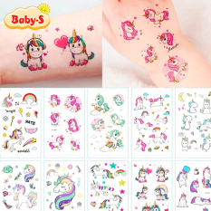Hình xăm Unicorn dán chống nước nhiều màu sắc xinh yêu lung linh cho bé yêu thỏa thích vui chơi cùng bạn bè Baby-S – SST007