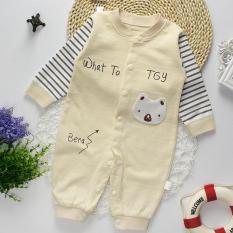 Bộ áo liền quần cho bé sơ sinh cotton thun thoáng mát 118