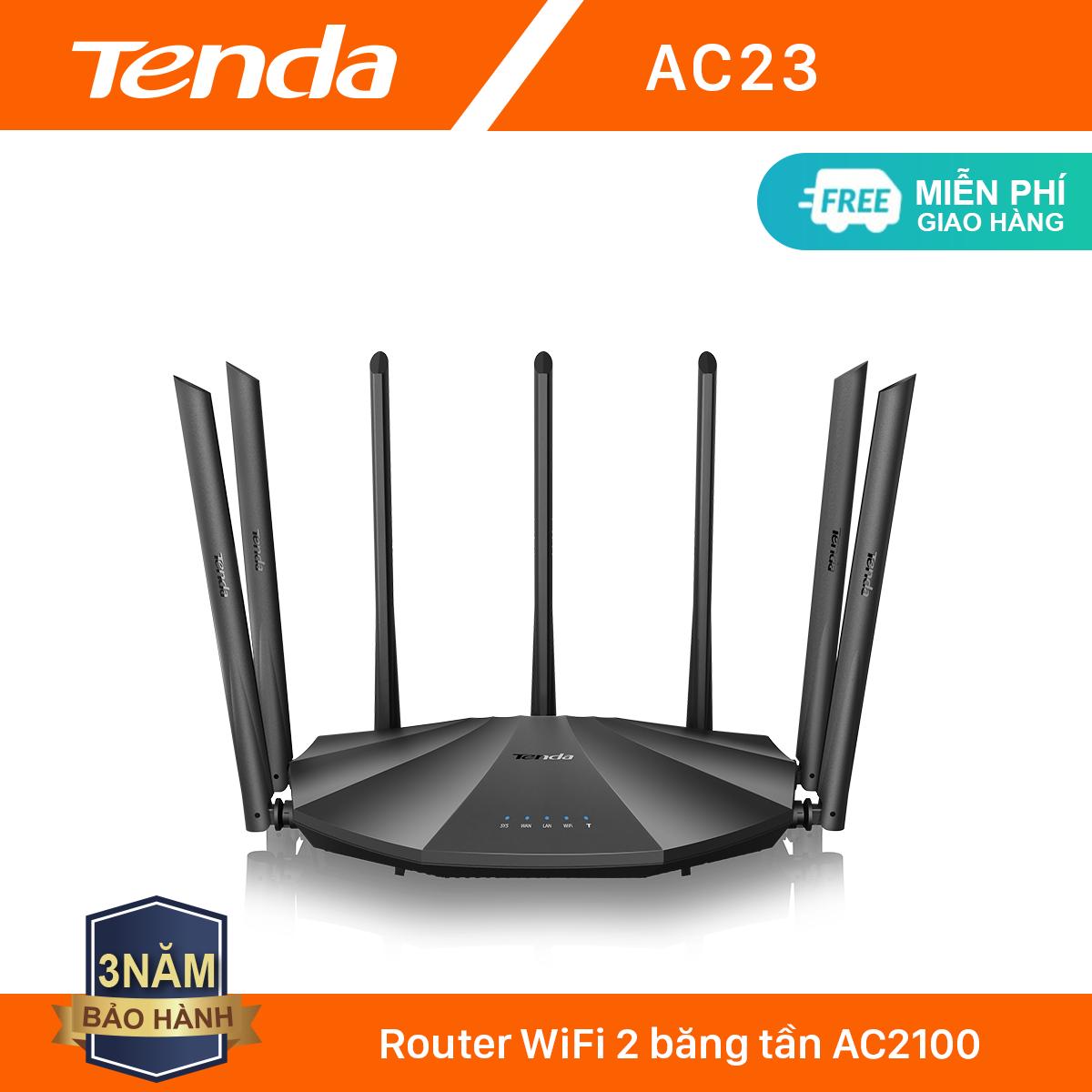 Tenda Thiết bị phát Wifi AC23 Chuẩn AC 2100Mbps – Hãng phân phối chính thức