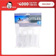 Bộ chai chiết mỹ phẩm khi đi du lịch 6 cái – UBL AG0258(Trong suốt)