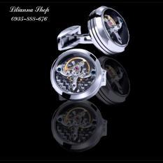 Khuy măng séc đồng hồ Quartz