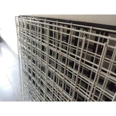 }Khung Lưới Trang Trí 1mx1m ô mắt 5cm, dày 2.5li (trắng, đen)