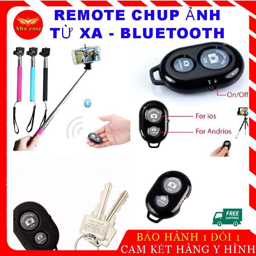 Remote điều khiển chụp ảnh điện thoại tự động, nút bấm điều khiển bluetooth hỗ trợ chụp ảnh tiện lợi...