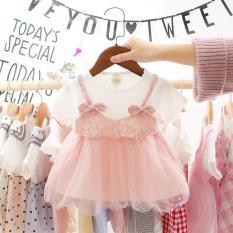 Váy đầm nơ xinh cho bé yêu, Đầm công chúa cho bé gái sơ sinh đến 2 tuổi V3