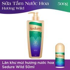 Sữa tắm nước hoa Sedure Wild 500g + Lăn khử mùi hương nước hoa Sedure Wild 50ml
