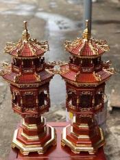 Đèn thờ gỗ hương cao 80