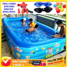 BỂ BƠI PHAO Trẻ Em 2M1-1m8 bể bơi cho bé Trong Nhà Hình Chữ Nhật Kích Thước 210x150x60Cm Bể Bơi Trẻ Em Bốn Mùa Cho Bé Sáng Tạo Loại Dày Dặn Chất Liệu An Toàn Cho Bé Chất Lượng Vượt Trội Giá Gốc – BB2m1