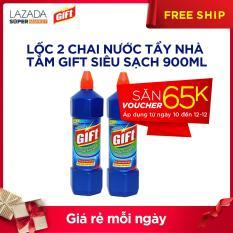 Lốc 2 chai Nước Tẩy Nhà Tắm Gift Siêu Sạch 900ml