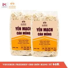 Combo 1kg Yến mạch ăn liền, nguyên hạt cán dẹp DK Harvest nhập khẩu Úc – 1kg (2 túi 500g), yến mạch ăn liền, yến mạch úc, yến mạch giảm cân, ngũ cốc giảm cân, hạt nấu sữa