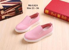 Giày Slip Ons Bé Gái 1 – 12 Tuổi màu hồng xinh xắn GA24
