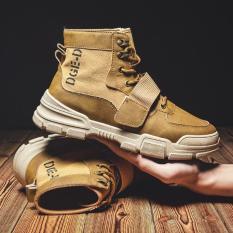 Boot nam cao cổ – Giày boot tăng chiều cao thiết kế thời trang cá tính – Hai màu : Đen , Vàng bò