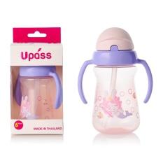 Bình Tập Uống Nắp Bật Upass UP0080N Hai Tay Cầm Có Ống Hút Mềm, Chất Liệu Nhựa Không Chứa BPA, Dung Tích 150ml