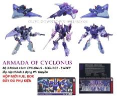 HỘP 3 Robot lắp ráp thành 3 dạng phi thuyền – TRANSFORMERS Armada Of Cyclonus
