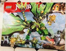 Bộ lego Ninja cube rồng xanh lá (237 chi tiết)