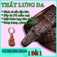 Thắt Lưng Da Nam Hình Cá Sấu Siêu Đẹp -Khóa cài-dây dài 1m2-dây nịt nam-quà tặng hấp dẫn