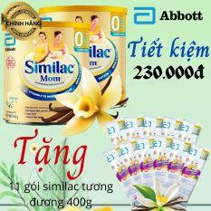 [Tặng 11 gói Similac mom 36,5g] Combo 2 lon sữa bầu Abbott Similac mom hương vanilla 400g
