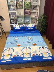 Set Ga Gối Doraemon- gồm ( 01 ga bọc nệm + 02 áo gối ) Mẫu Mới 2019