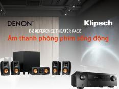 Combo nghe nhạc, xem phim 5.1 Denon AVR-X250BT + Klipsch Reference Theater Pack + Klipsch R-8SW