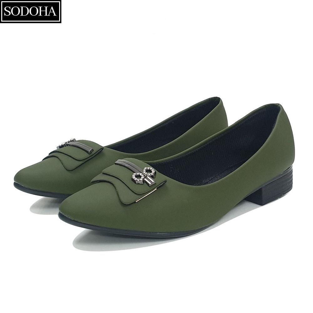 Giày nữ , Giày lười nữ , Giày đế bệt nữ - Giày nữ thời trang SODOHA SDH2216