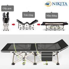 Giường gấp, giường xếp du lịch Nikta lưới thoáng mẫu mới năm 2020 TT02