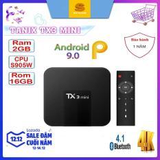 Android Tivibox TX3 Mini RAM 2GB, ROM 16GB, Android 8.0 – Bảo Hành 1 Năm