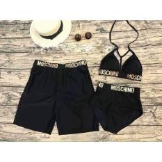 Quần bơi nam MCN đen mặc đi biển đi bơi ( không có bộ nữ)