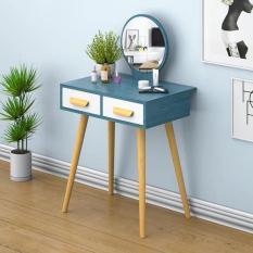 Bàn trang điểm, bộ bàn ghế trang điểm, bàn ghế trang điểm, có gương, có ngăn kéo, 2 ngăn, MẶT BÀN ĐÃ ĐƯỢC LẮP SẴN