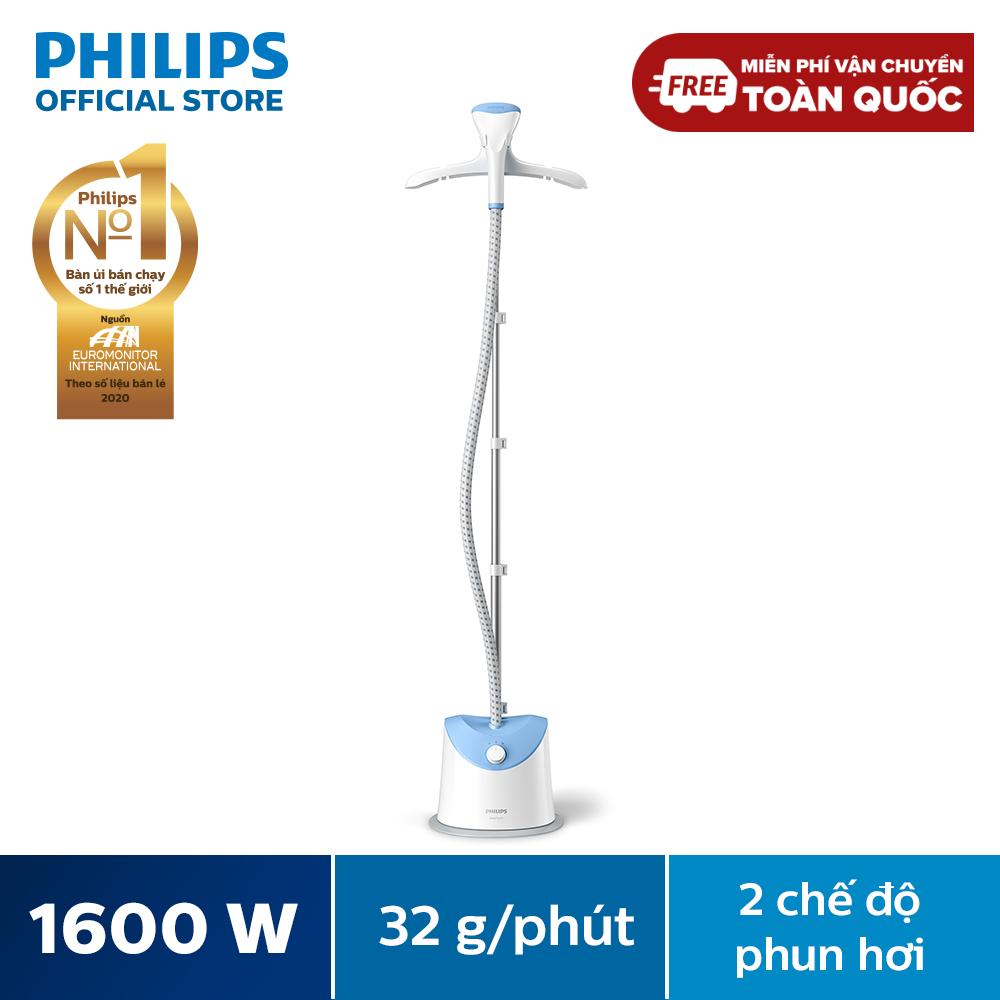 Bàn ủi hơi nước Philips dạng đứng GC482 1600W (Xanh dương) – Hàng phân phối chính hãng, bảo hành 24 tháng