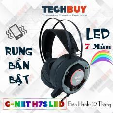 Tai nghe Gaming G-Net H7S Rung Led I BH 12 Tháng I Tai nghe game thủ Head phone GNET H7S RGB LED