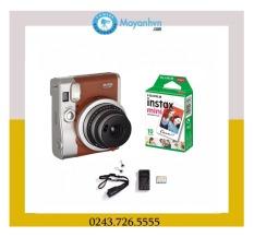 Bộ Máy ảnh chụp lấy liền Fujifilm Instax Mini 90 (Nâu) và Giấy in cho máy ảnh Fujifilm Instax Mini