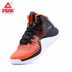 Giày bóng rổ PEAK Rising Flames E84051A – Đỏ Đen