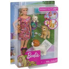 Búp bê Barbie chăm sóc cún cưng FXH08