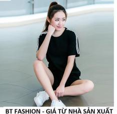 Đồ Bộ Áo Thun Nữ + Quần Đùi Sọt Thun Nữ Thể Thao, Ở Nhà, Đồ Ngủ – BT Fashion (TT2-BA SỌC)