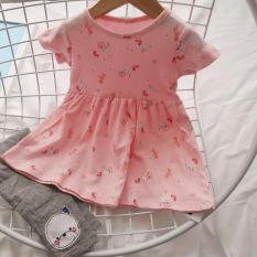 Váy Cotton Bé Gái Ngắn Tay Dáng BabyDoll 7-28kg In Họa Tiết Nhí Nhiều Màu Dễ Thương Thời Trang Julykids VAY G1002 (Ngẫu Nhiên)