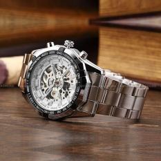 Đồng hồ nam máy cơ Winner TM340 – Silver mặt trắng