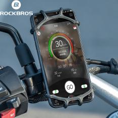 ROCKBROS Giá đỡ kẹp điện thoại gắn vào tay lái xe đạp chống shock và trơn trượt xoay 360 độ cực kỳ chắn chắn an toàn dễ dàng lắp đặt Giá đỡ điện thoại xe máy Giá đỡ xe đạp Giá đỡ tay lái cho 4-6,5 inch