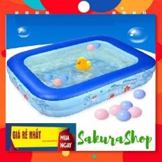 Bể bơi phao 2 tầng cho bé size 115x85x35cm hàng cao cấp