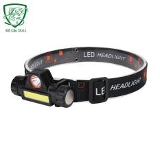 (HÀNG CAO CẤP) Đèn Đội Đầu siêu sáng [ Tặng Pin và Sạc ] – Đèn pin led đội đầu B6 3 chế độ sáng kim 2 bóng led -Duli