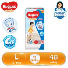 [FREESHIP 20K ĐƠN 300K] Tã/Bỉm quần HUGGIES Dry Big Jumbo L48 (9 – 14kg) – Gói 48 miếng