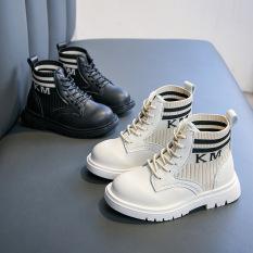 Giày trẻ em boot da cho bé trai và bé gái hàng cao cấp siêu đẹp siêu êm thiết kế cổ chun độc lạ