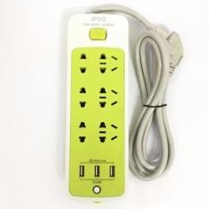 Ổ cắm điện chống giật 6 lỗ 3 cổng usb đa năng