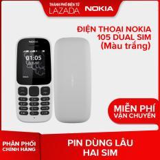 Điện thoại Nokia 105 Dual sim – Màu Trắng