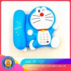 Đồ chơi điện thoại bàn mèo máy đáng yêu cho bé màu xanh mã 127 – Đồ khuyến mãi giá tốt