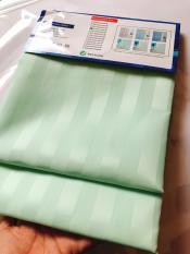 Rèm Phòng Tắm / Rèm Cửa Sổ Xanh Cốm Nhạt Sọc bóng 180cm X 180cm Loại 1( Ảnh + Video thật )
