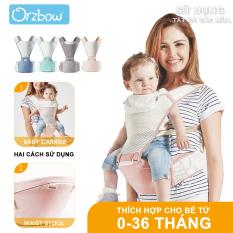 Orzbow 2 Trong 1 Con Tàu Sân Bay Với Hip Seat, ergonomic Tay-Miễn Phí Bé Sling Hãng Cho Trẻ Sơ Sinh Toddler Trẻ Em, Bốn Mùa Thở