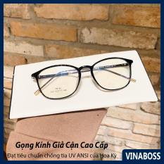 Kính giả cận nam nữ Hàn Quốc gọng dẻo VN292 – Gọng kính cận nam nữ không độ cao cấp tròng chống tia UV – Tặng kèm hộp đựng và khăn lau