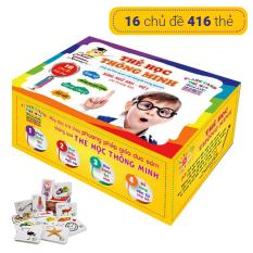 [Flashcard tiếng Anh cho bé] Bộ thẻ học thông minh cho bé HL785 – Bộ thẻ song ngữ Anh Việt 16 chủ đề (416 thẻ PCS)