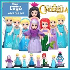 Xếp hình Lọ Lem Alana – Ariel – Cinderella – Fairy Godmother – Rapunzel – Elsa Lego Minifigures Lele F010 017